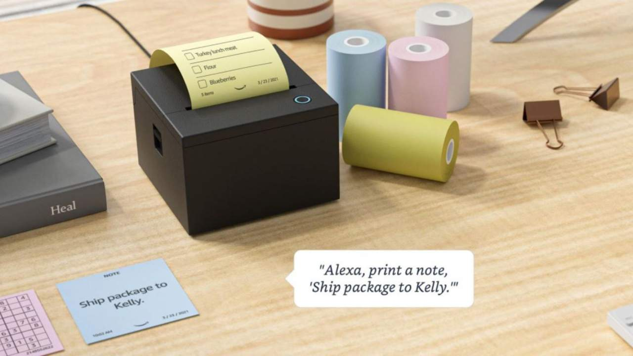 Amazon's weird Alexa sticky note printer will start shipping this summer