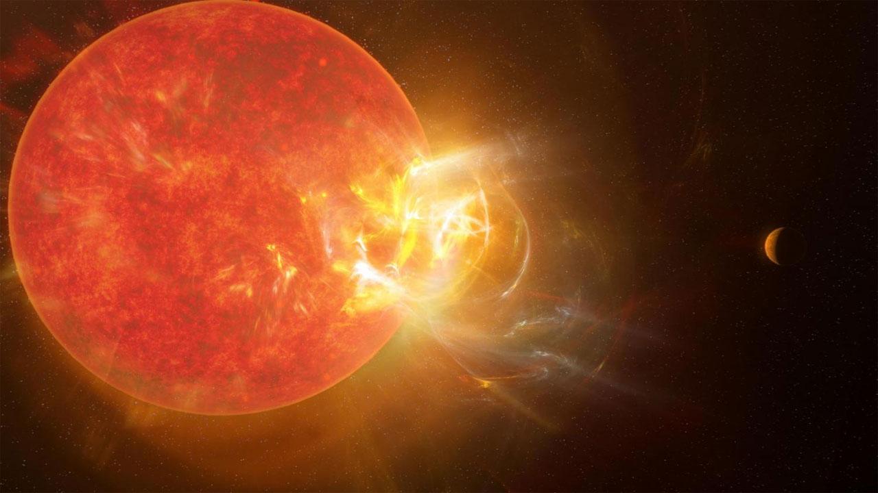 Proxima Centauri generates a massive solar flare