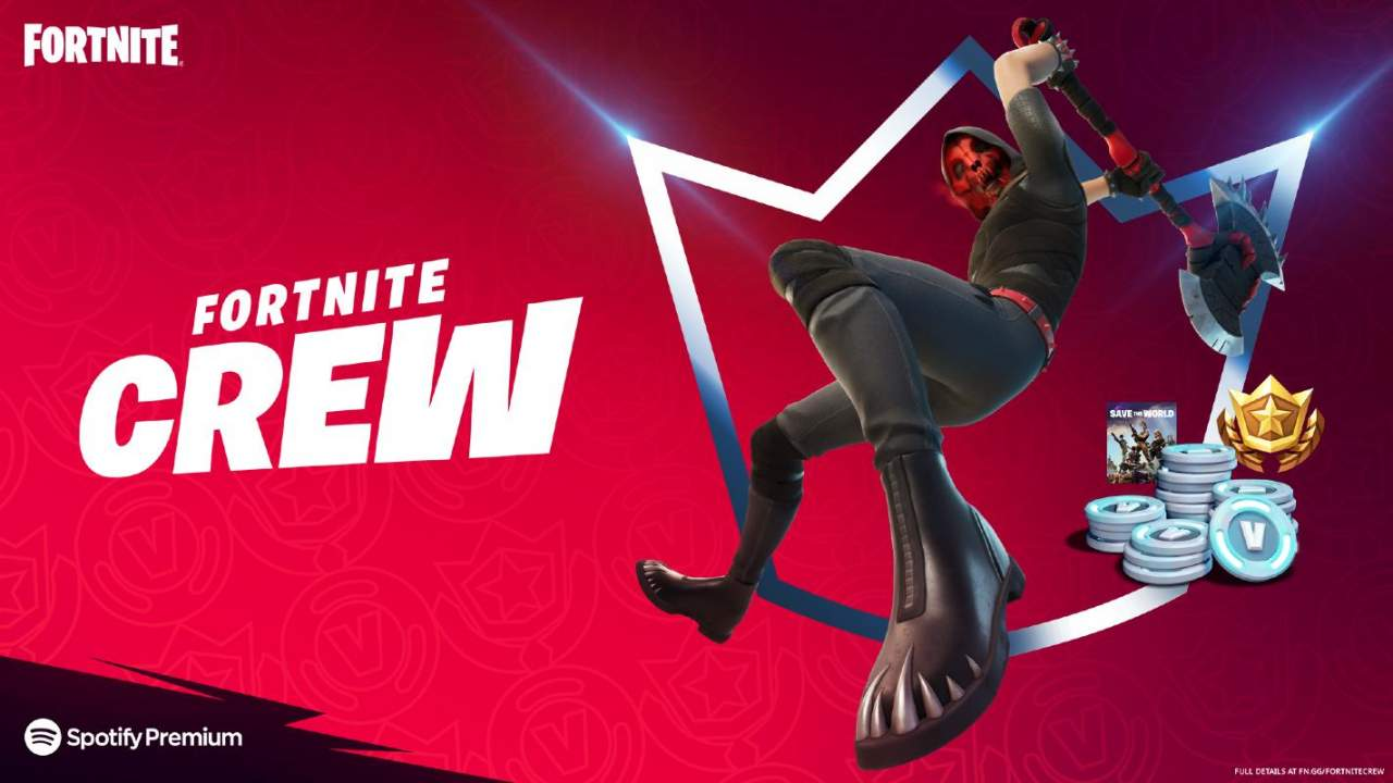 Fortnite Crew for May expands perks with Save the World and Spotify