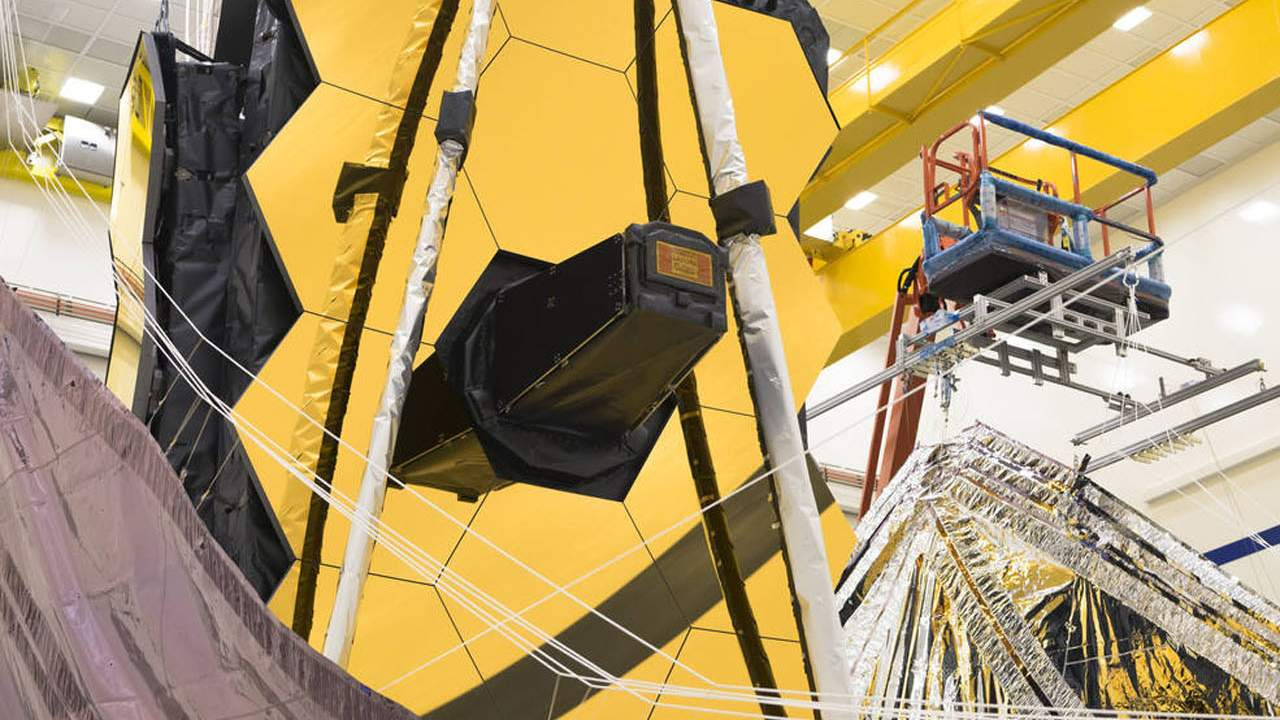 Engineers pack up the James Webb Space Telescope's sunshield
