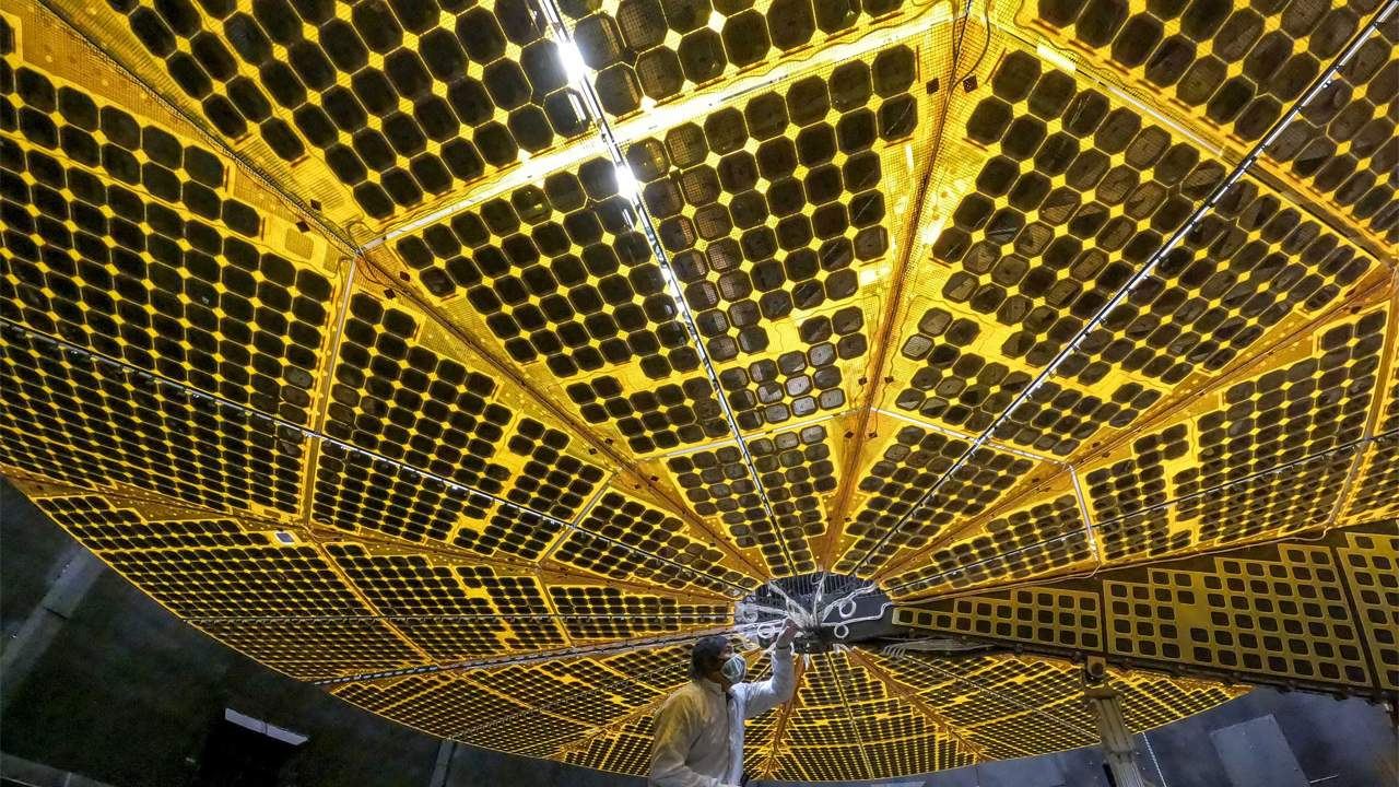NASA Lucy spacecraft solar panel deployment test goes off without a hitch