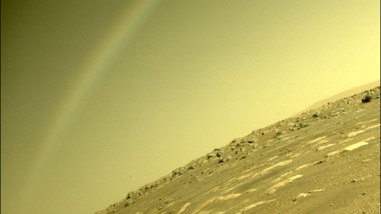 No, Perseverance didn't see a rainbow on Mars