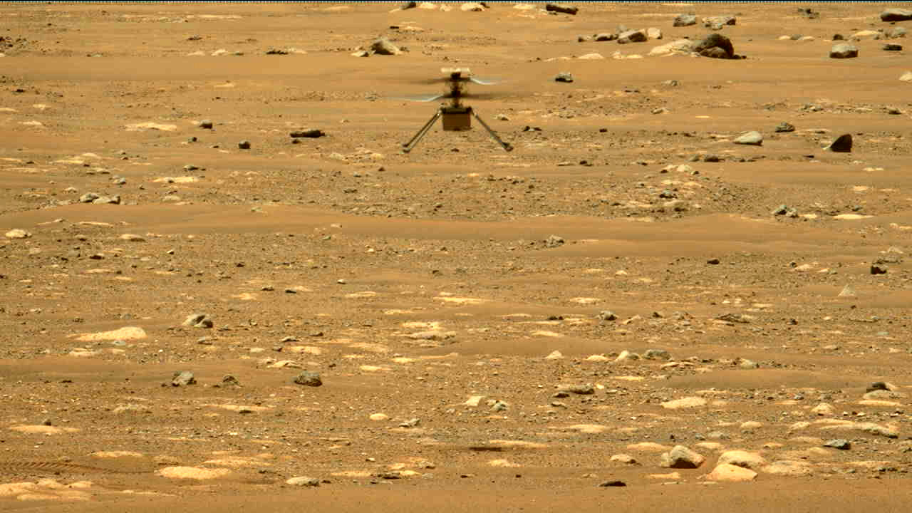 Watch NASA's Mars helicopter fly again as Ingenuity spreads its wings