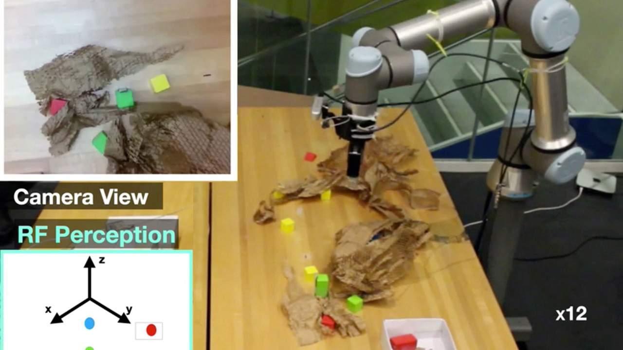 MIT robot senses hidden objects using penetrative radio frequency