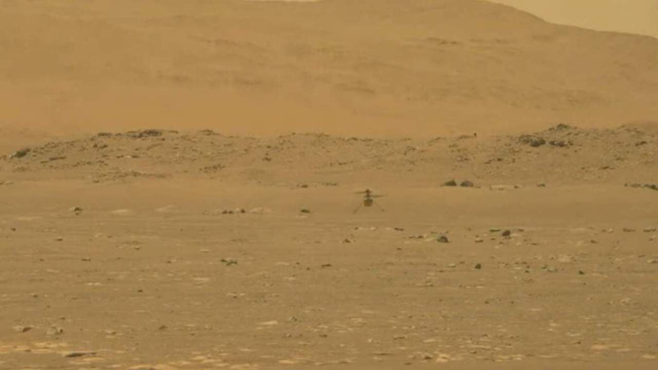 Watch NASA's Ingenuity Mars helicopter ace its historic first flight
