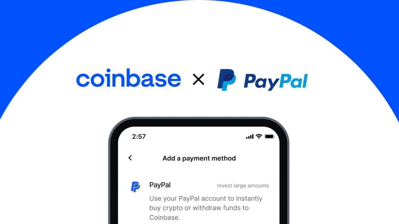 Coinbase now supports using PayPal to buy cryptocurrencies