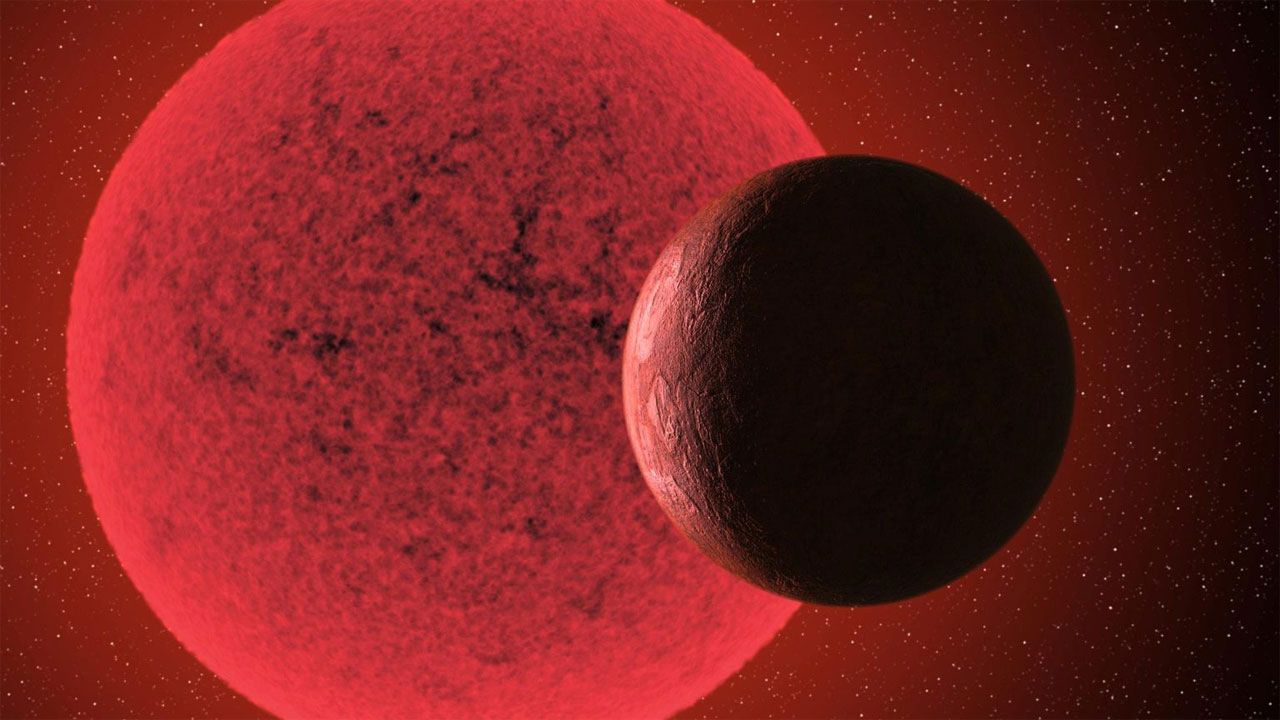 Super-Earth orbits a red dwarf star in only 2.4 days