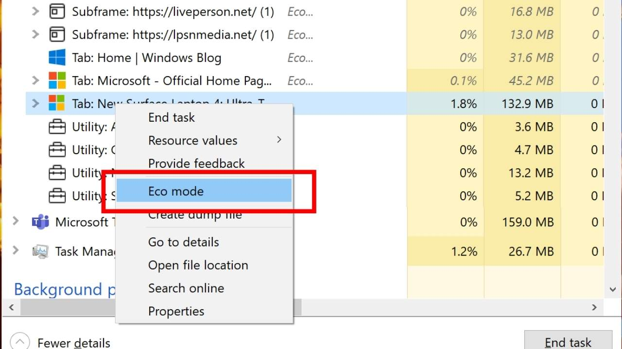 Windows 10 Insider Preview adds Eco mode to throttle processes