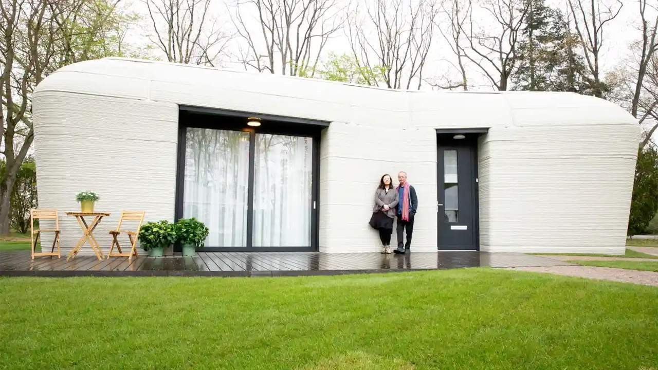 A couple has moved into Europe's first fully 3D printed house