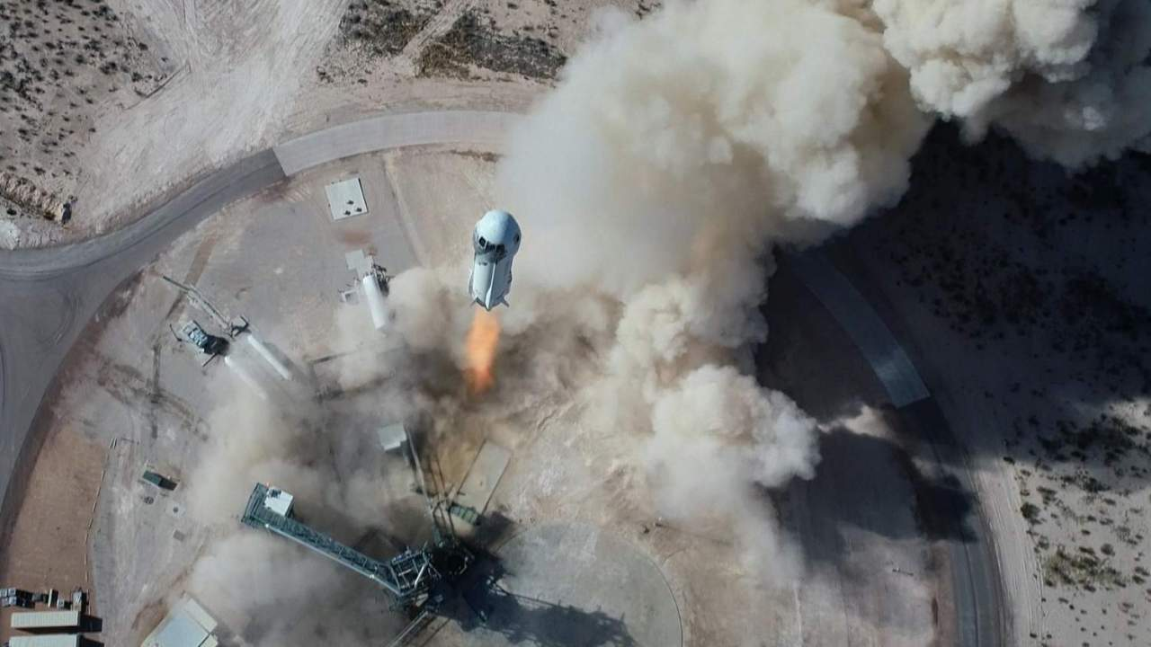 A seat on Blue Origin's first crewed space flight is up for auction
