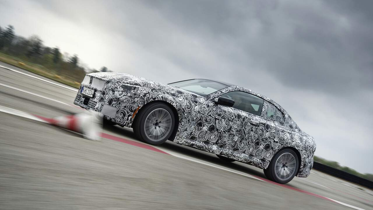 2022 BMW 2-Series Coupe fully unveiled wearing digital camouflage
