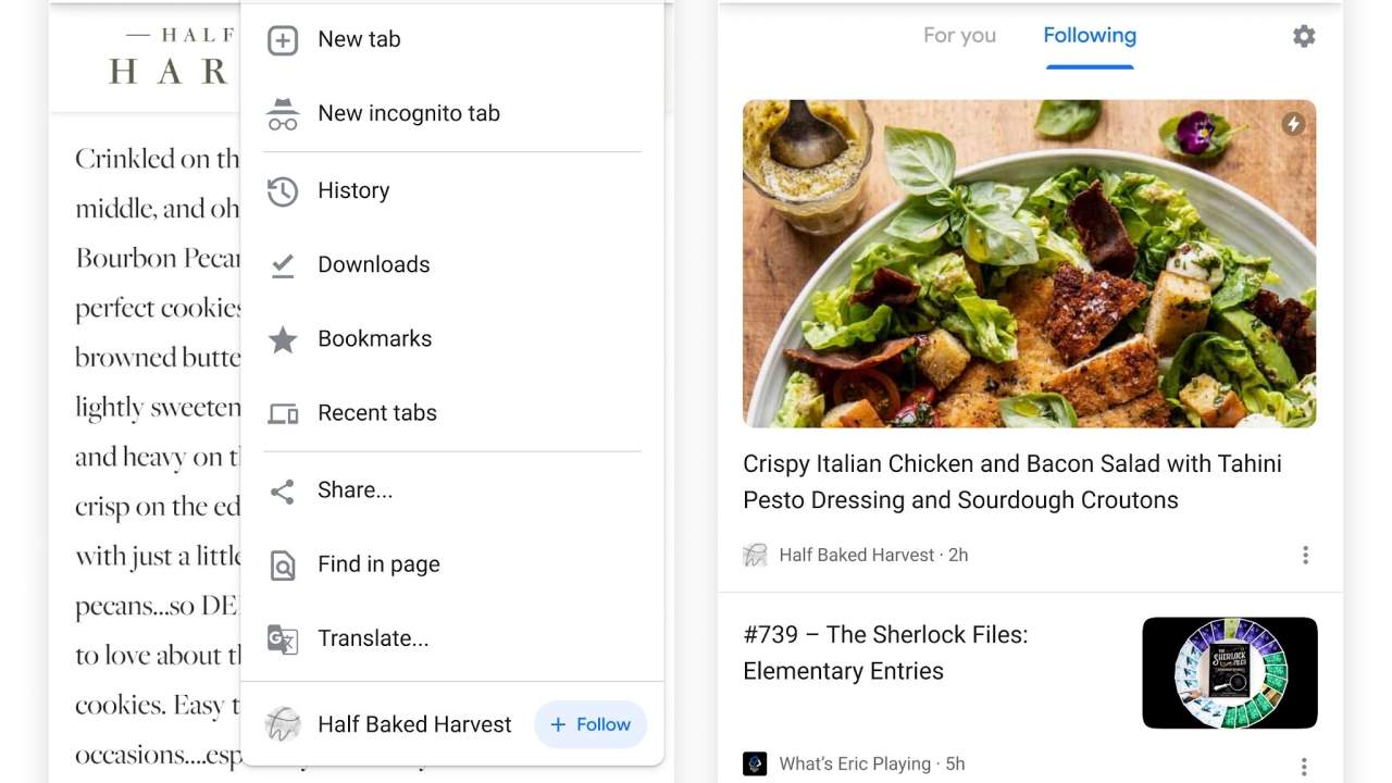 """Chrome """"Follow"""" experiment brings Google Reader back from the dead"""