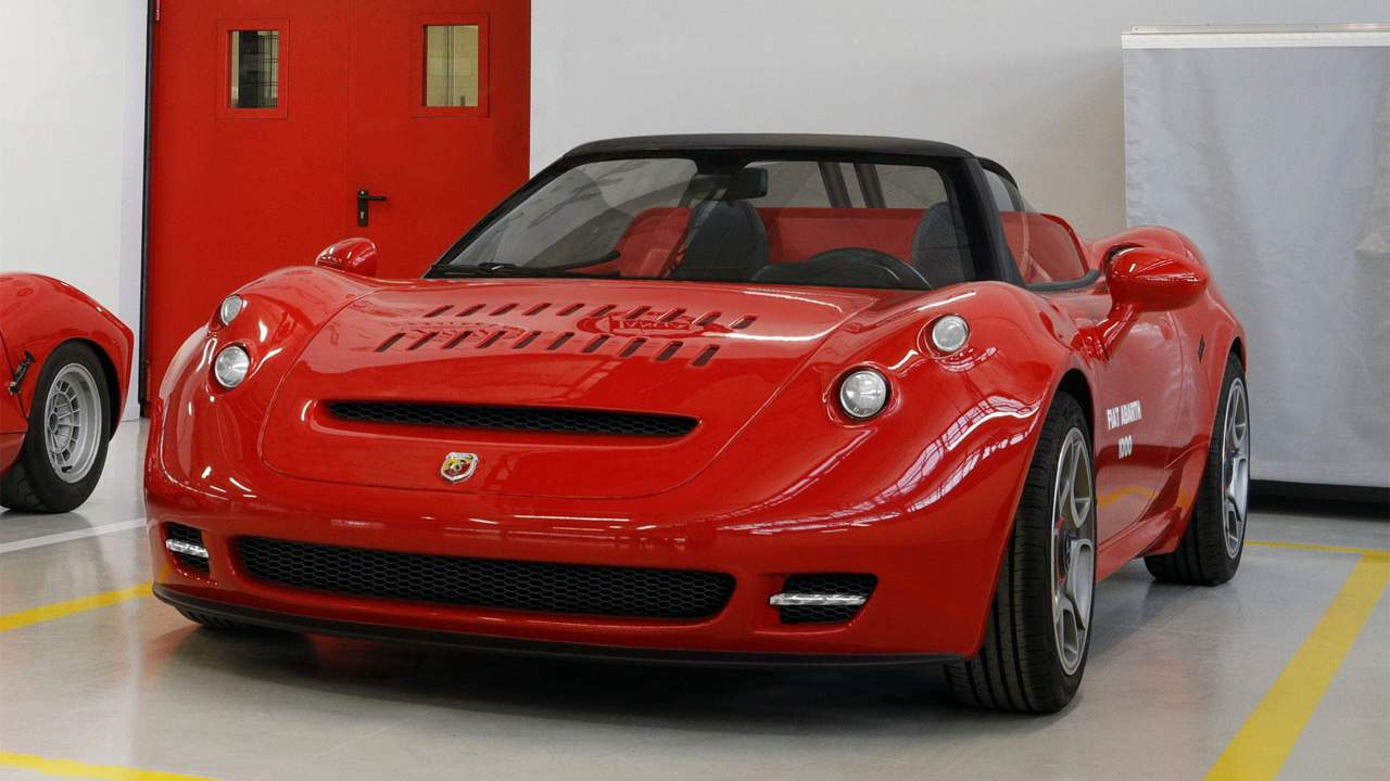 Gorgeous Abarth 1000 SP Roadster started life as an Alfa Romeo 4C