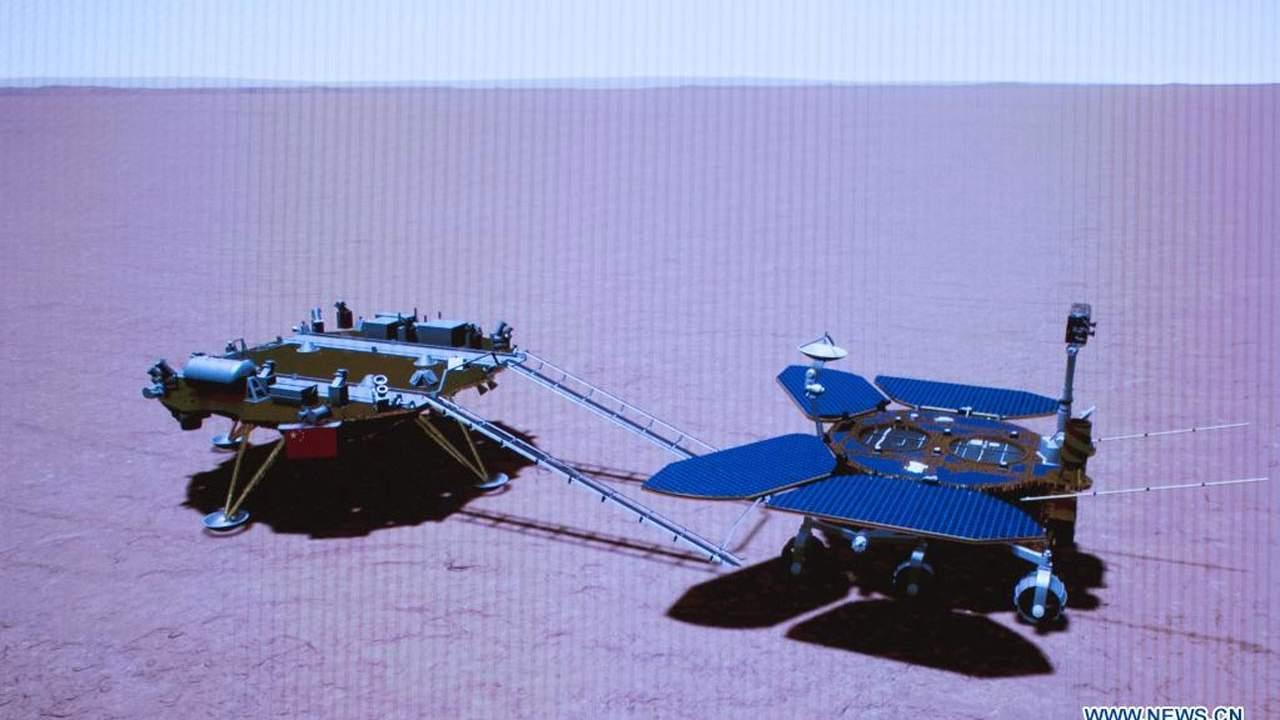 China's Zhurong rover kicks off its Martian exploration