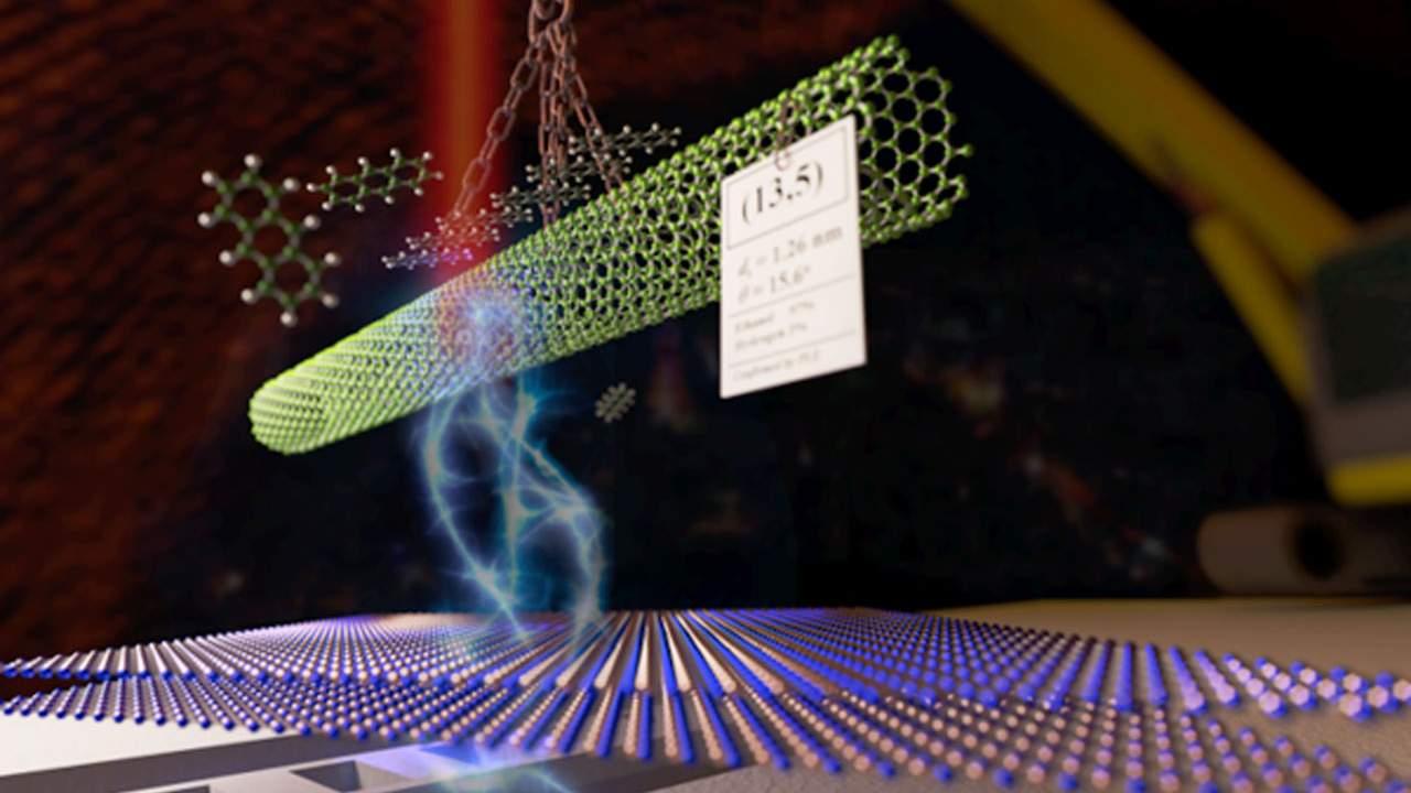 A new dry transfer technique precisely positions optical quality carbon nanotubes