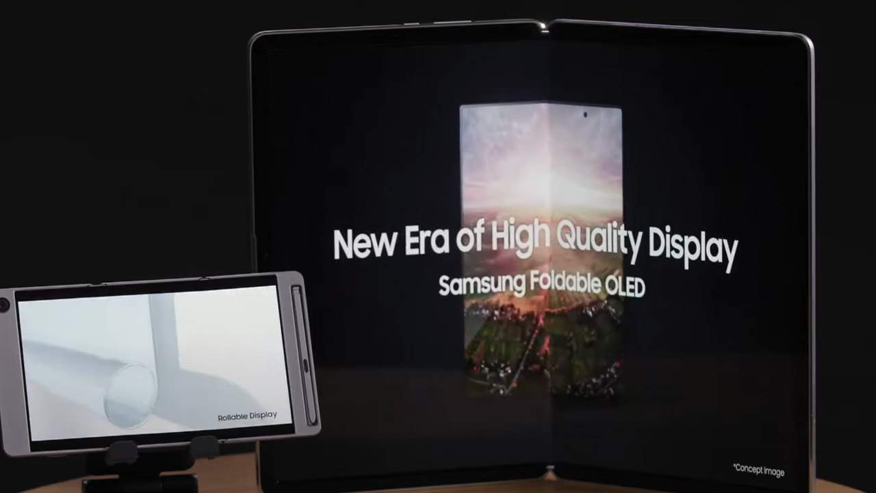 Watch Samsung's 17-inch foldable tablet and rollable phone in action