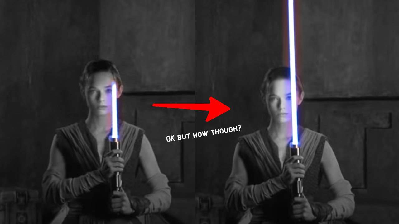 "How Disney's ""real"" lightsaber works: Like 2x tape measures"