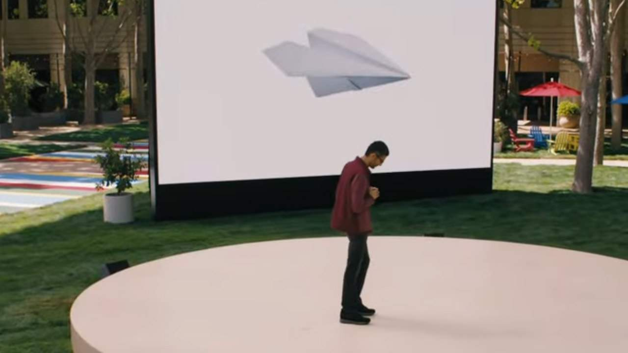 Google LaMDA lets users have a Natural Language conversation with a paper airplane