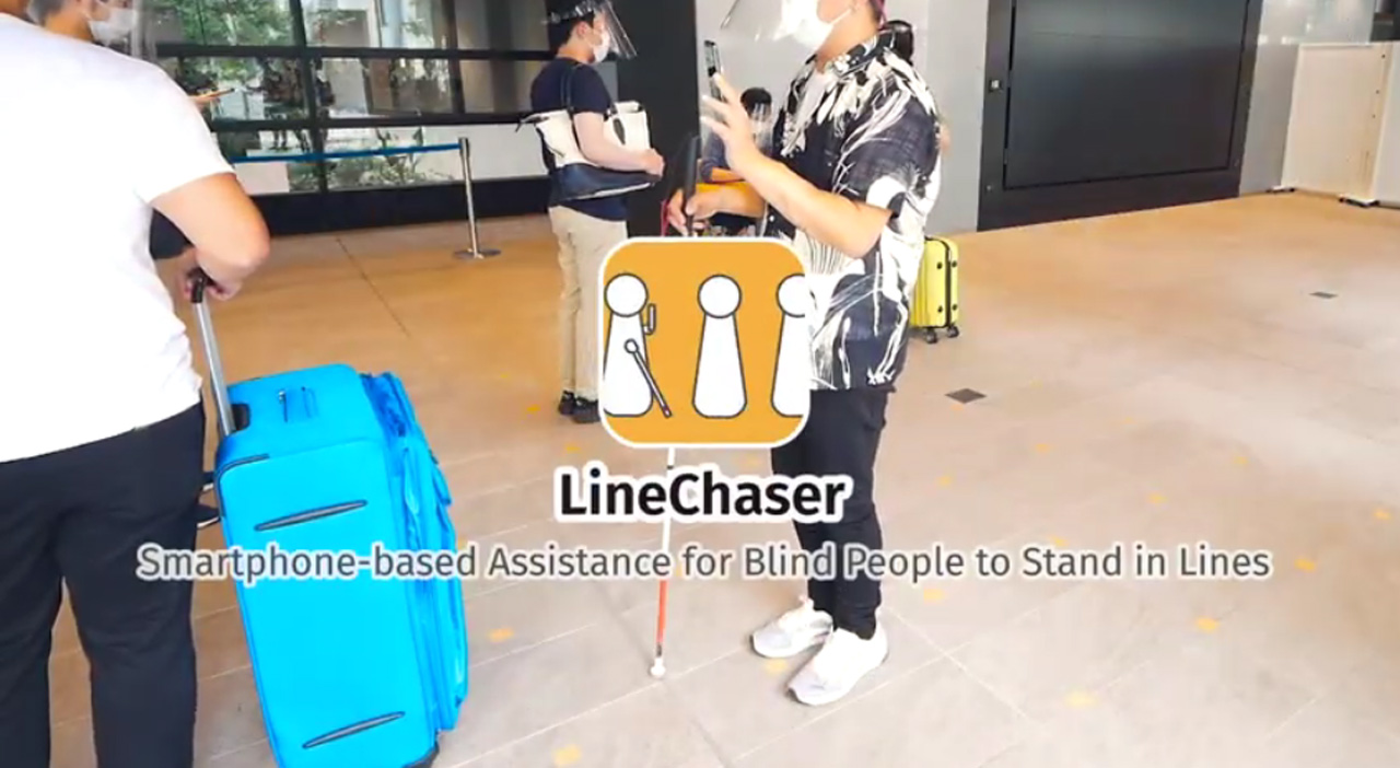 Smartphone app helps blind people stand in socially distanced lines