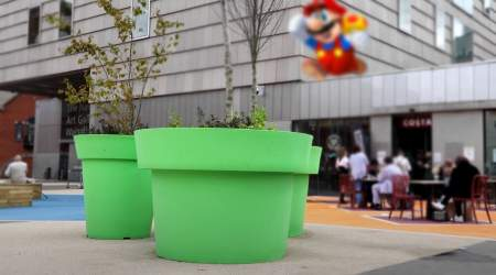 New planters just went full Mario Bros on town in UK