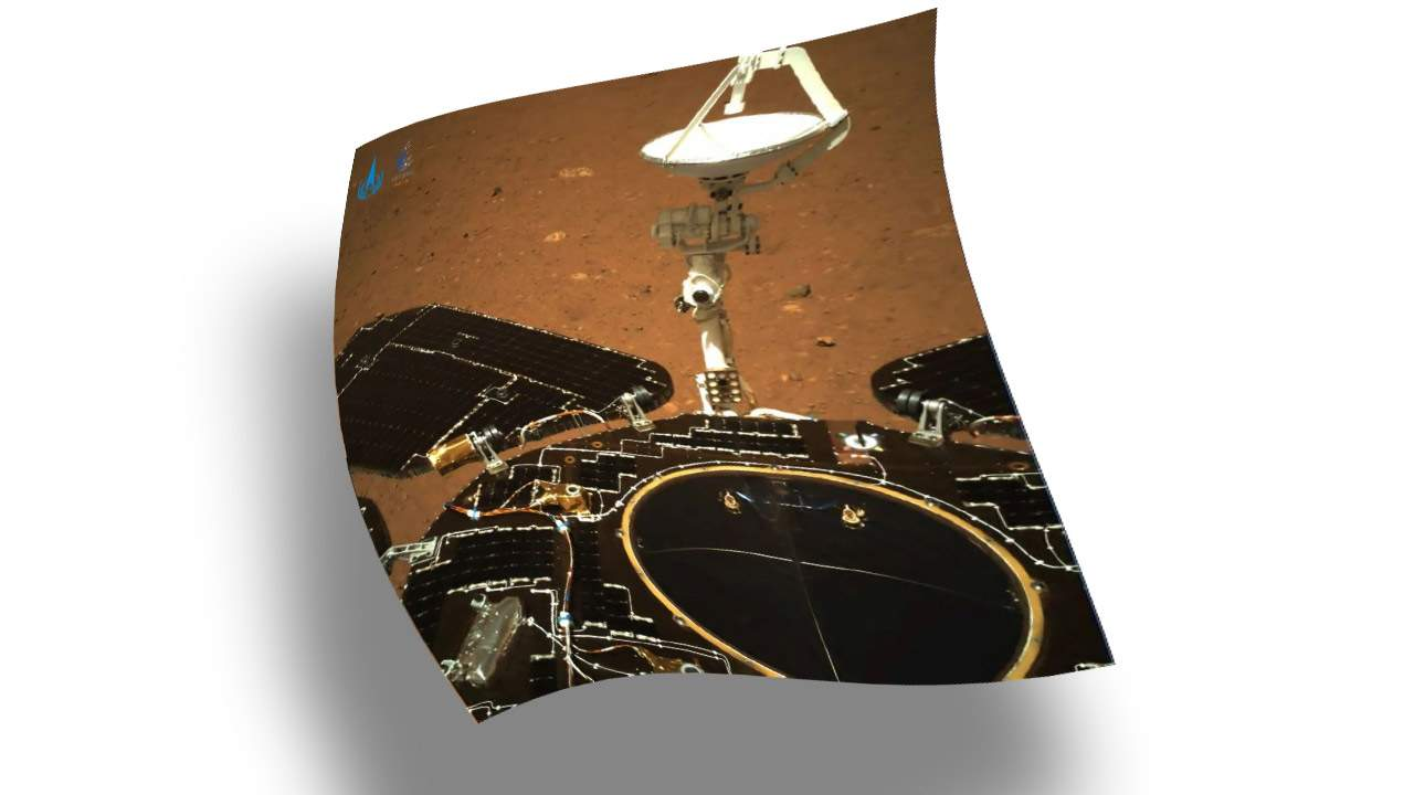 China Tianwen-1 rover returns first surface photos from Mars