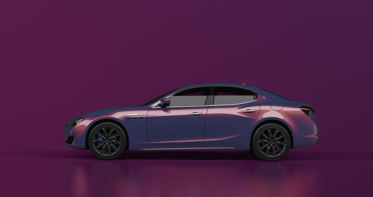 Maserati reveals the custom Ghibli Hybrid Love Audacious