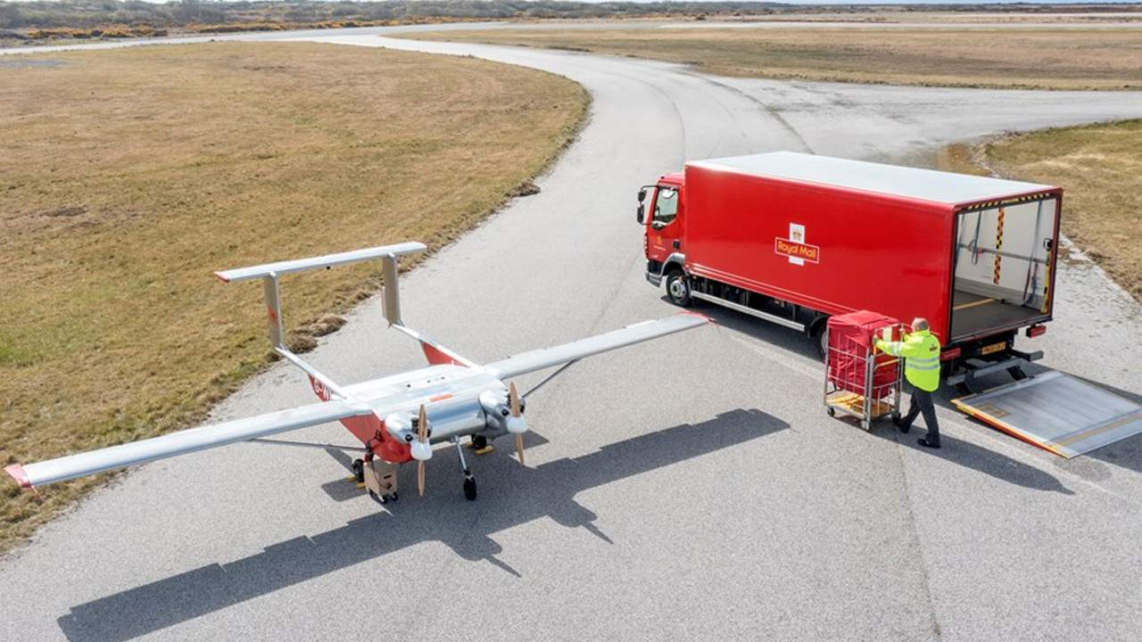 Royal Mail has delivered its first two packages using an autonomous drone