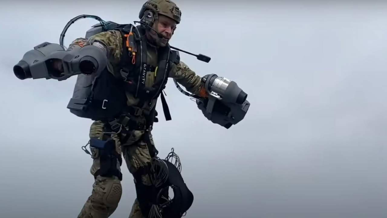 Watch Royal Marines fly like Iron Man in new jet suit demonstration