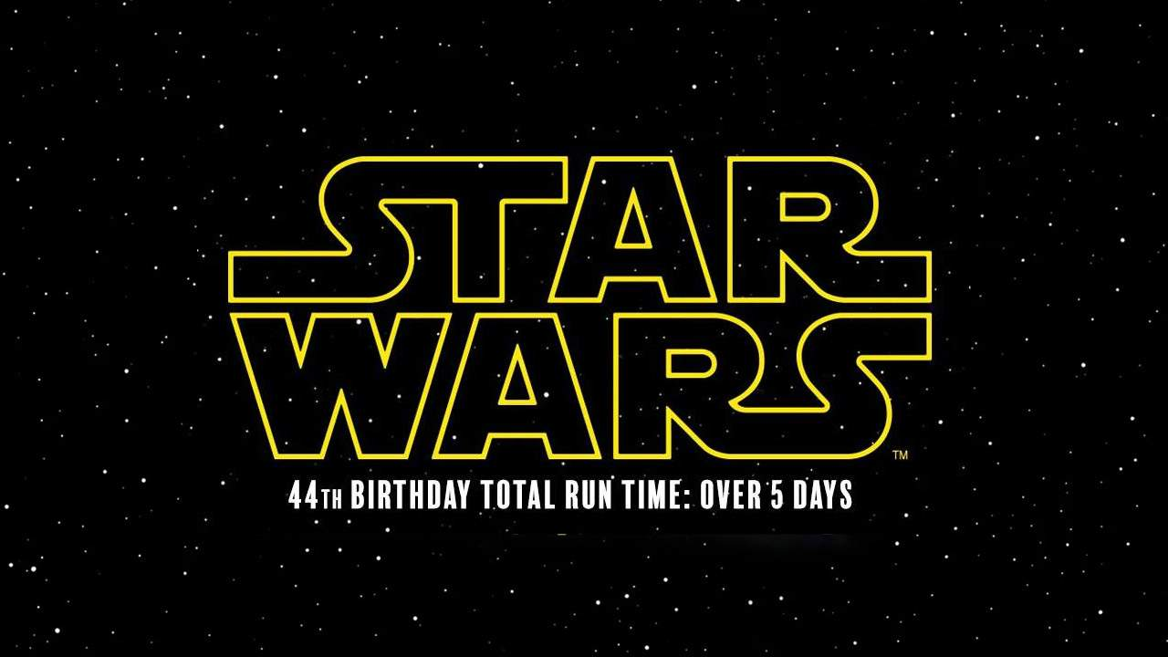 Star Wars is now 44 years old and more than 5 days long