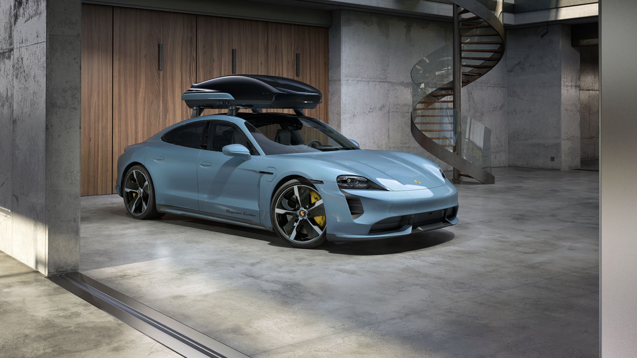 Porsche Tequipment Performance roof box hauls stuff at high speeds