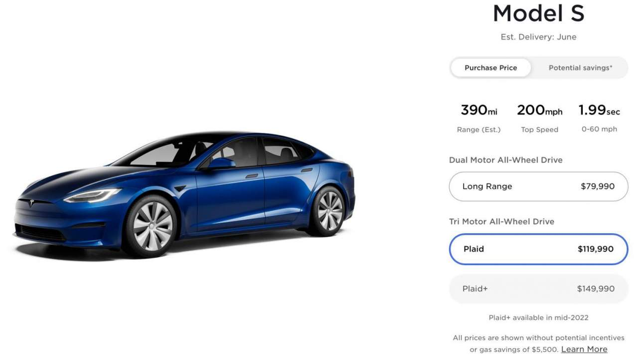 Tesla just stopped taking orders for its Model S Plaid+ EV
