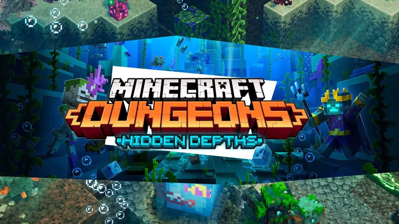 Minecraft Dungeons Hidden Depths goes underwater today