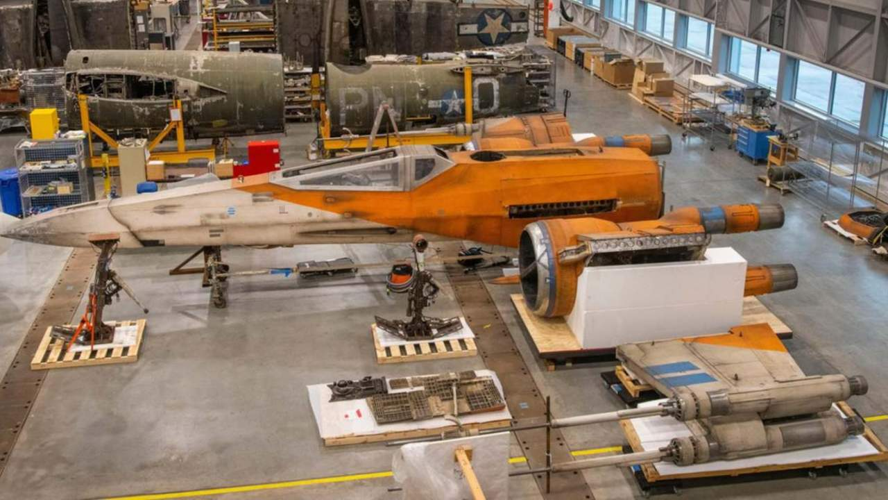 Smithsonian shows off its new life-size Star Wars X-Wing movie prop