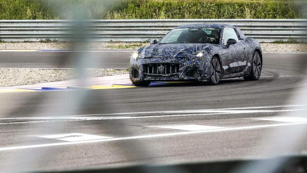 Maserati GranTurismo EV teased as Tesla Roadster rival starts testing
