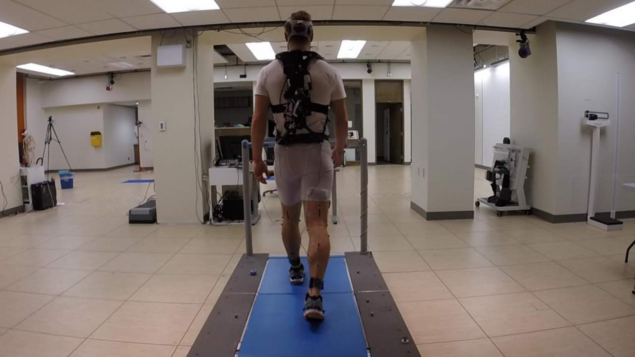 Queen's University researchers created an exoskeleton to improve walking efficiency