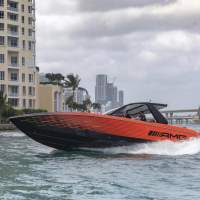 This unique 41′ Nighthawk AMG Black Series cigarette boat redefined my definition of speed