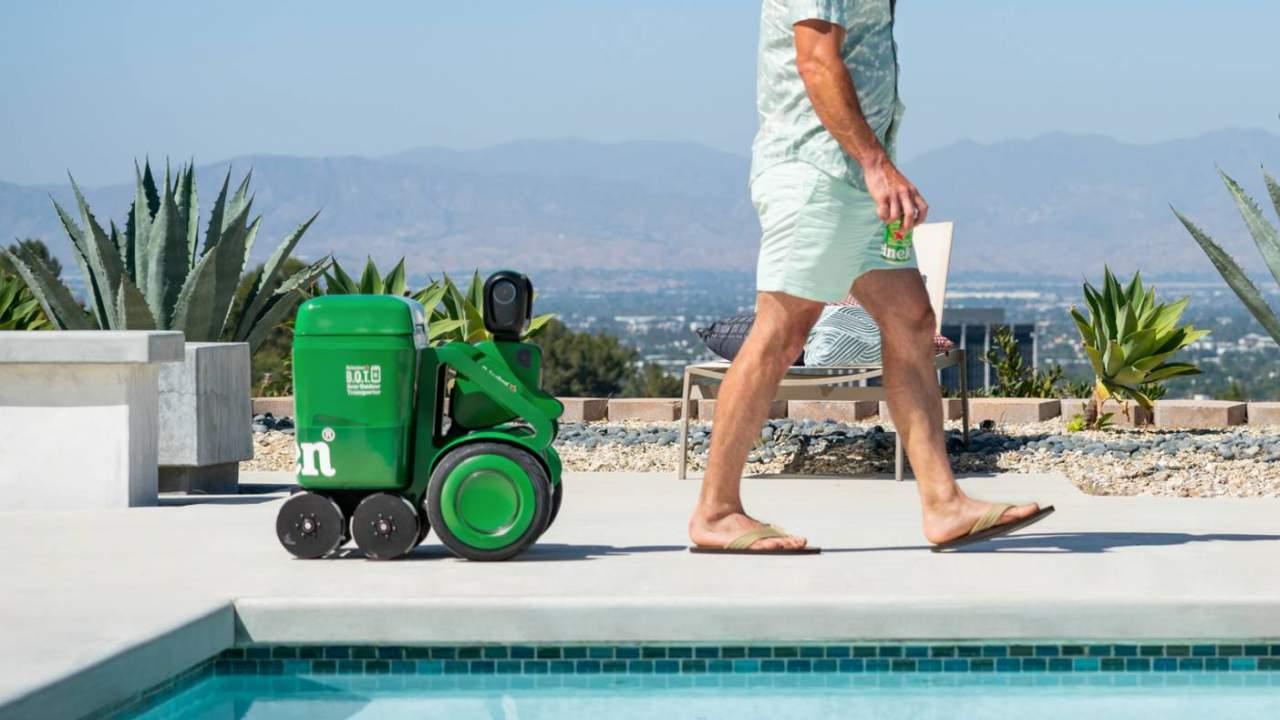 Heineken BOT is an autonomous beer cooler that follows you around
