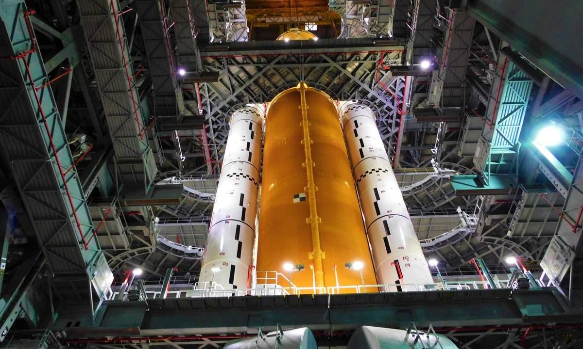 NASA shares astonishing photos of huge SLS rocket and its Artemis I passenger
