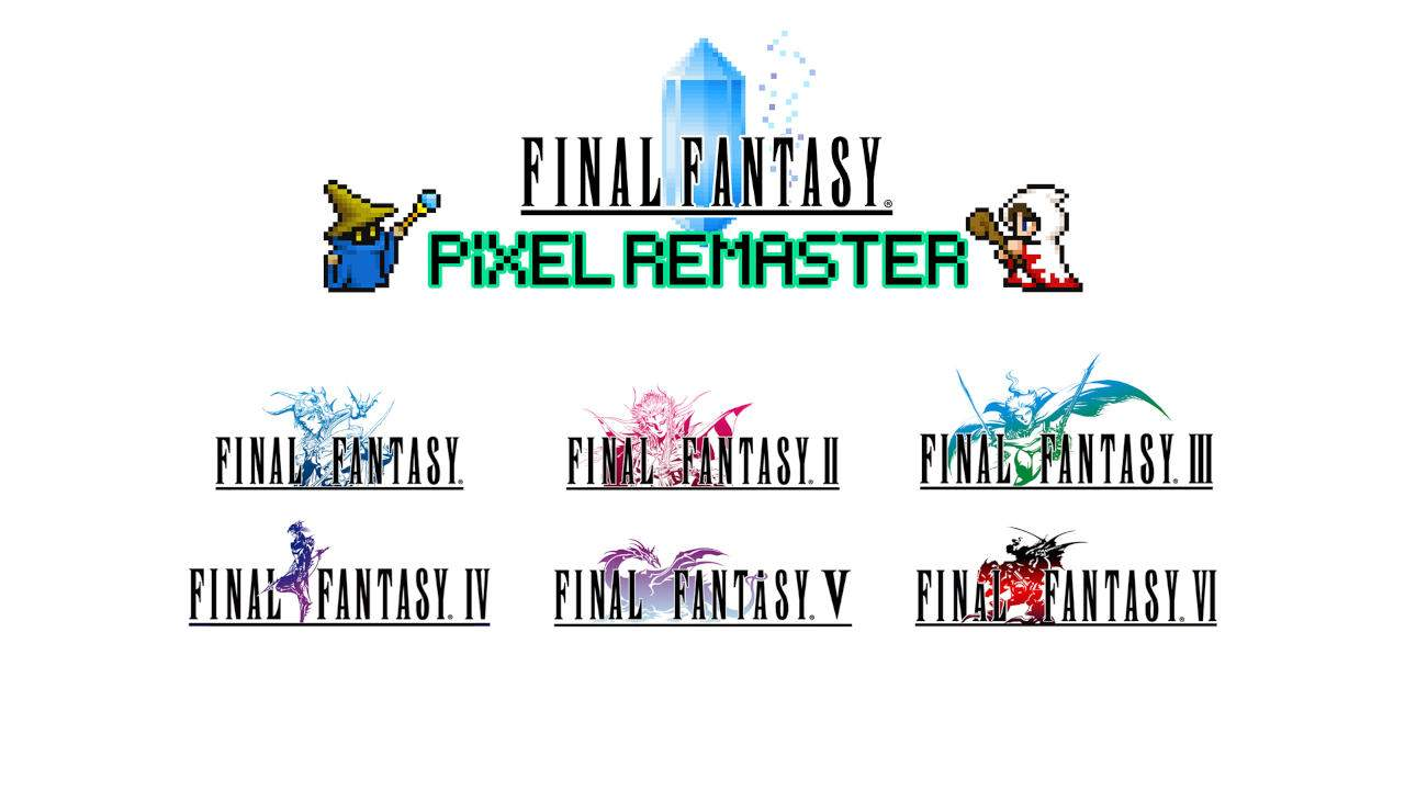 Final Fantasy I to VI are getting a Pixel Remaster series