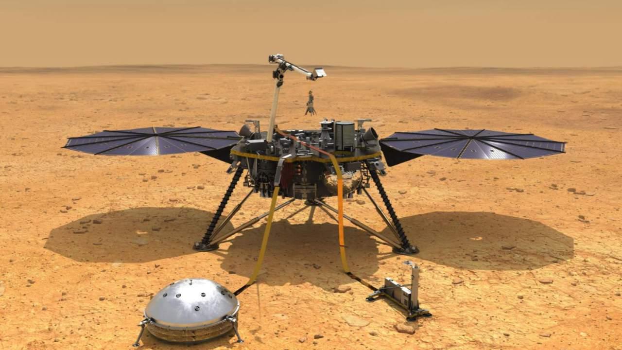 NASA's InSight Mars lander just gave itself a dust bath