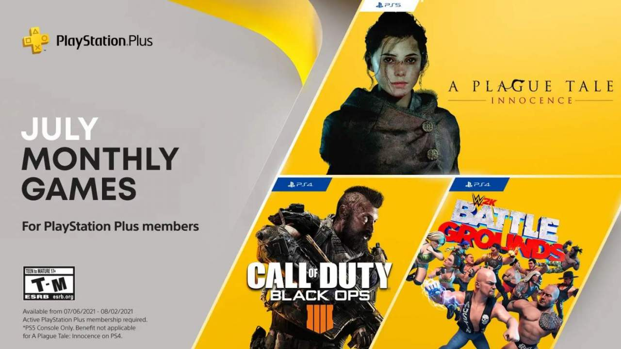 A Plague Tale, Call of Duty headline PlayStation Plus free games for July