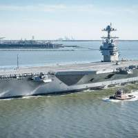 US Navy tests its most advanced aircraft carrier by blowing stuff up