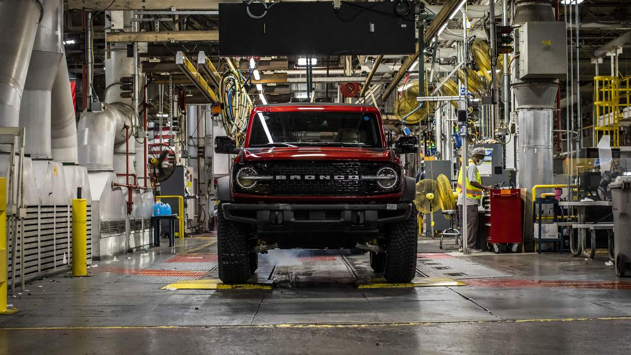 Ford Bronco production begins at the Michigan Assembly Plant
