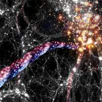 Astronomers map motion in galaxies spanning hundreds of millions of light-years