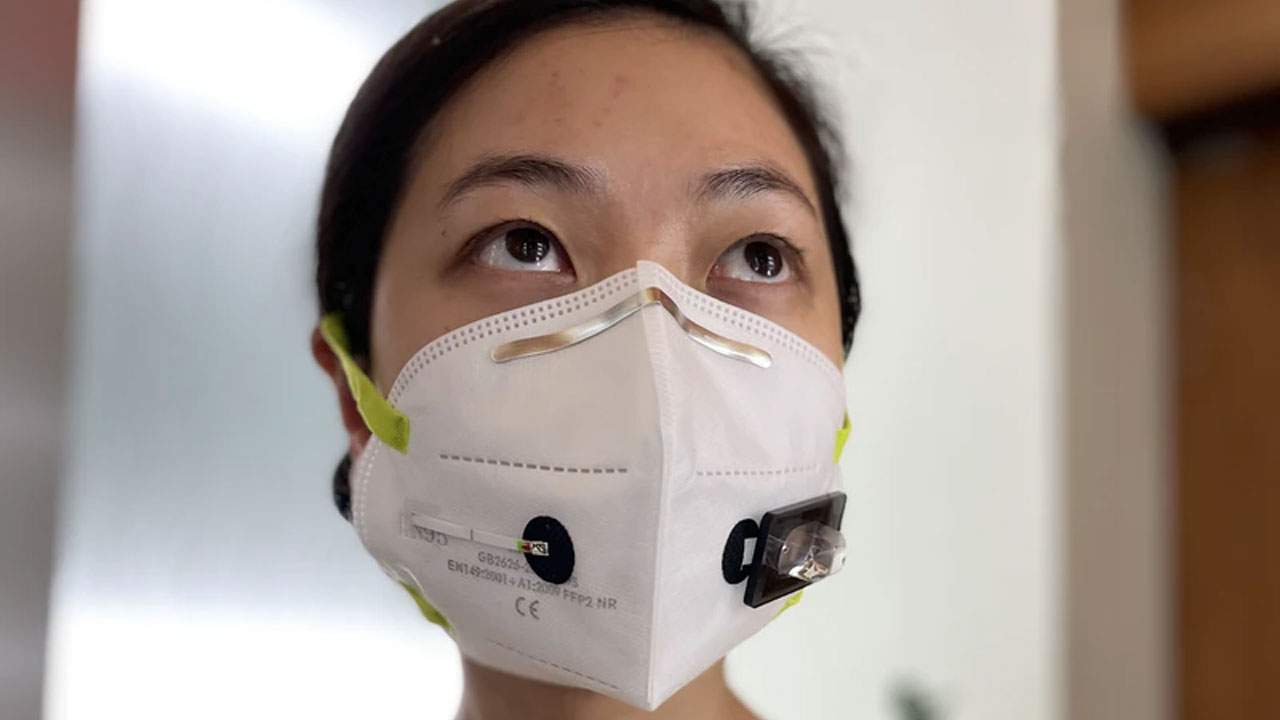 Facemask equipped with a wearable biosensor can detect SARS-CoV-2 virus