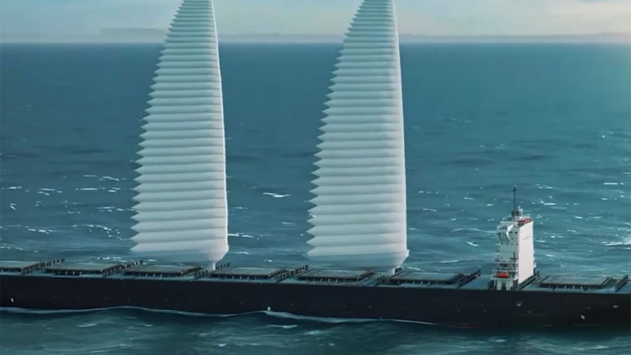 Michelin Wing Sail Mobility project makes massive cargo ships more efficient