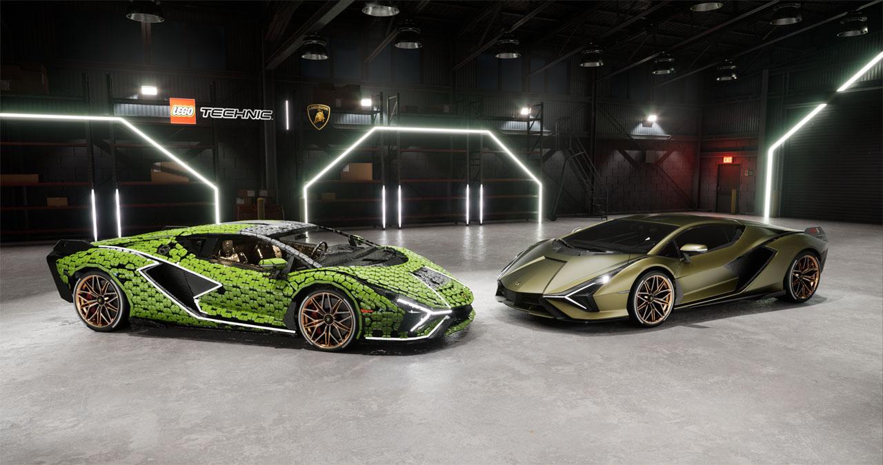 Lamborghini and Lego build a life-size Sian FKP 37