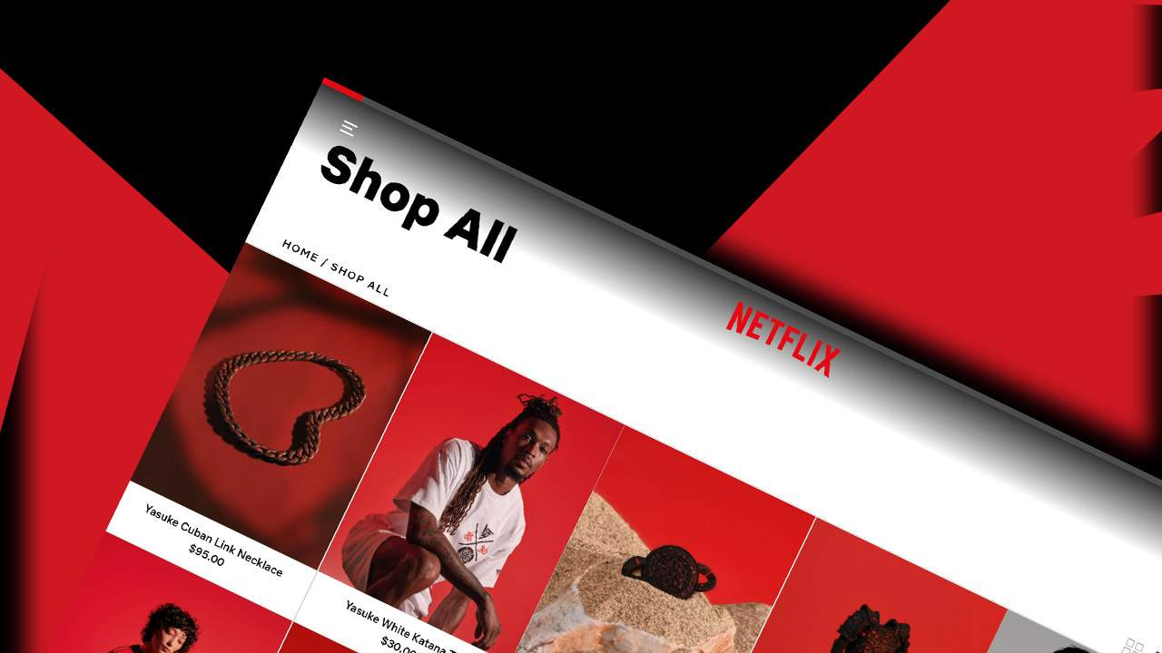 """Netflix shop opens with clothing, toys, and """"blood spattered"""" jewelry"""