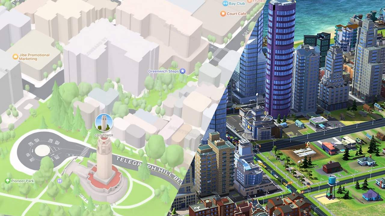 Apple Maps update makes navigation easier with Sim City aesthetic