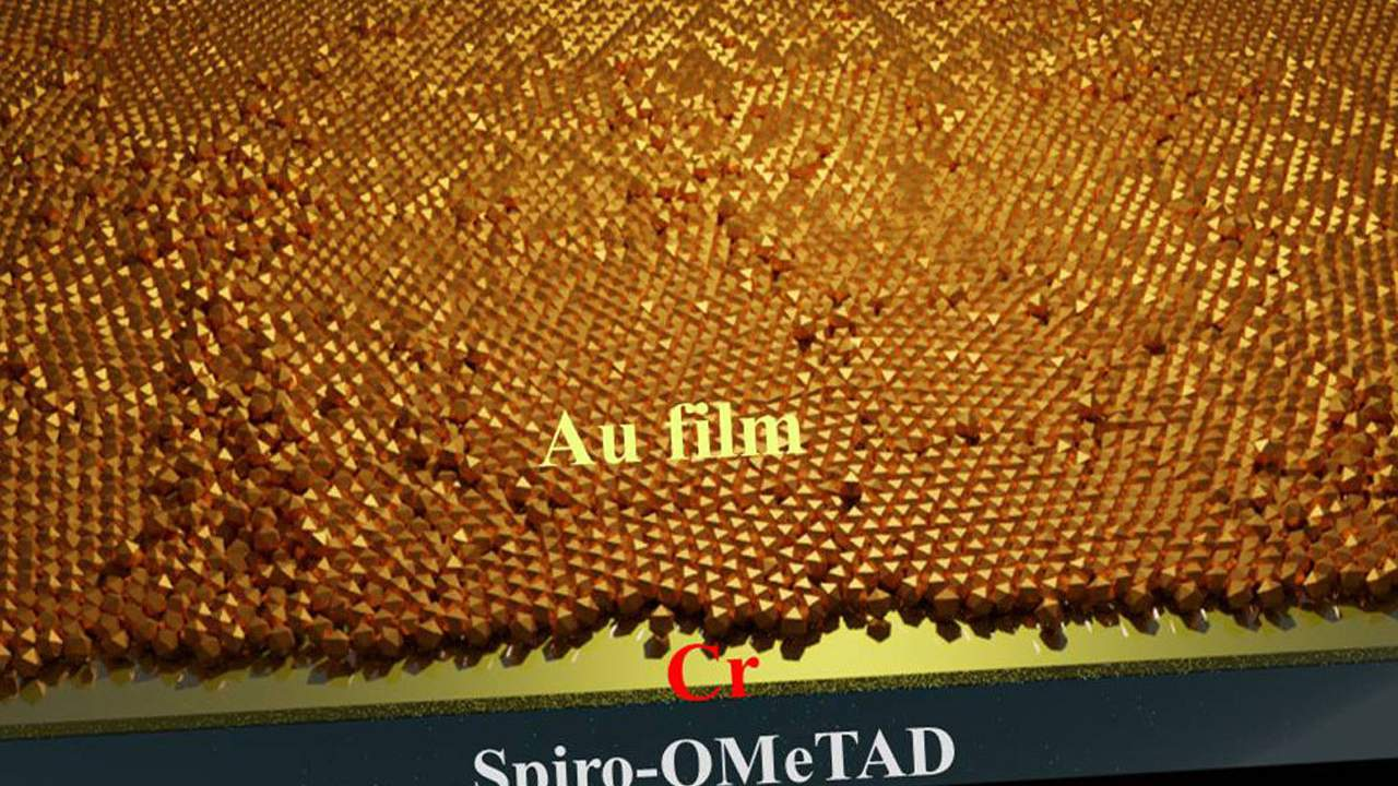 New transparent electrode using ultrathin gold film improves solar panels